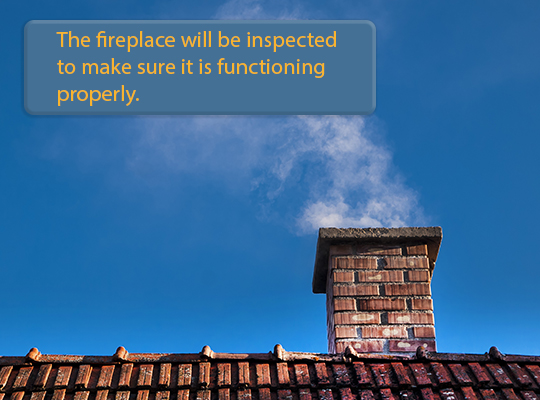 Fireplaces & Roofs are common problem areas in a home inspection.