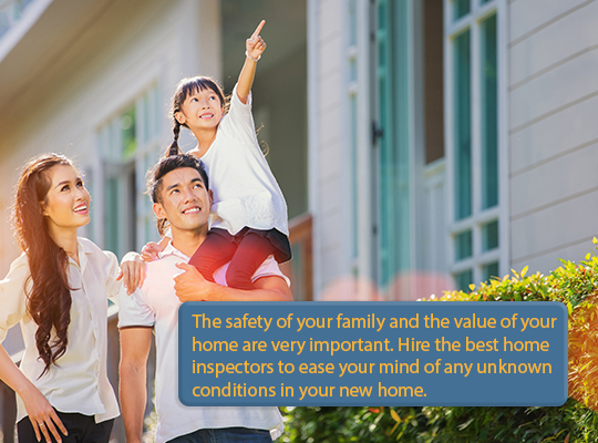 Hire the best home inspectors to ease your mind of any unknown conditions in your new home.